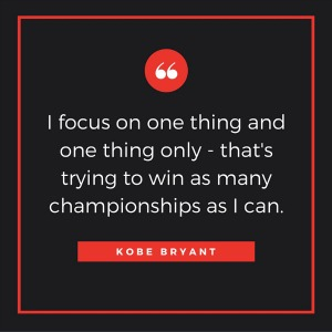 I focus on one thing and one thing only - that's trying to win as many championships as I can. Read more at: http://www.brainyquote.com/quotes/keywords/focus_2.html